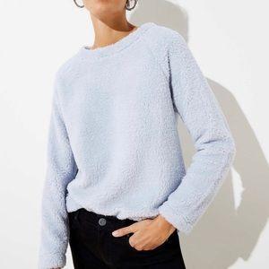 LOFT Faux Sherpa Fleece Sweater